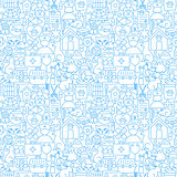 Veterinary White Line Seamless Pattern