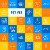 Vector Pet Vet Line Icons