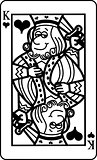 Cartoon King of Hearts Playing Card