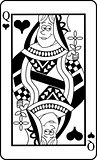 Cartoon Queen of Hearts Playing Card