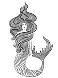 Wonder Mermaid with loose wavy hair