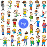 cartoon kid boys characters big set