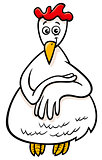 hen or chicken farm character cartoon illustration