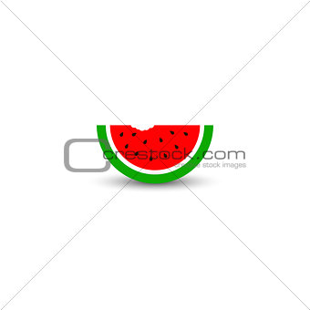 Watermelon fruit icon