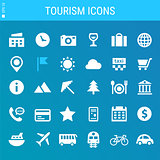 Tourism bold linear icons