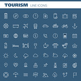 Big tourism icon set