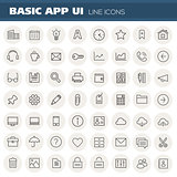 Big Basic App UI, UX and Office icon set
