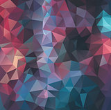Flat vintage colors polygonal background