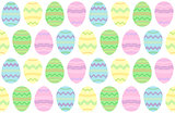Easter illustration, seamless eggs background, vector wallpaper
