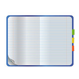 Vector realistic empty open notebook mock up