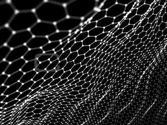 Abstract hexagon wire surface background. Technology concept. No