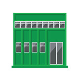 Vector green building Icon