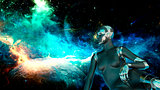 Cyborg Woman - Humanoid looking the space