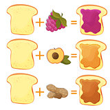 How Make Toast Ingredients for Classic Tasty American Fast Food