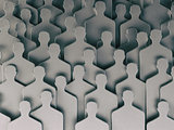 Backgound from shapes of people. Human resources and recruitment