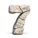 Stone font number 7 SEVEN 3D