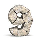 Stone font number 9 NINE 3D