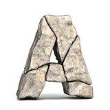 Stone font letter A 3D