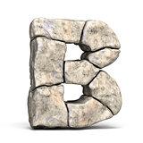 Stone font letter B 3D