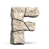 Stone font letter F 3D