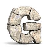 Stone font letter G 3D