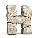 Stone font letter H 3D