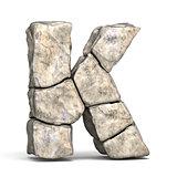 Stone font letter K 3D