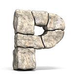 Stone font letter P 3D