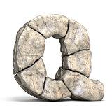 Stone font letter Q 3D