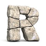 Stone font letter R 3D