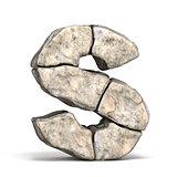 Stone font letter S 3D