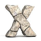 Stone font letter X 3D
