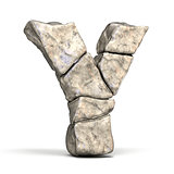 Stone font letter Y 3D