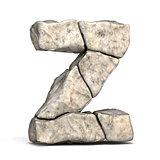 Stone font letter Z 3D