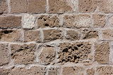 Old and large stone blocks wall texture