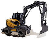Wheel Excavator Machine