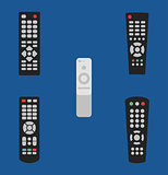 Tv remote control vector illustration icon set old and modern