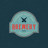 vintage brewery logo. retro styled beer emblem. vector illustration