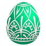 Colored Easter egg. Vector illustration isolated on white background. Clipart for the holiday design and cards.