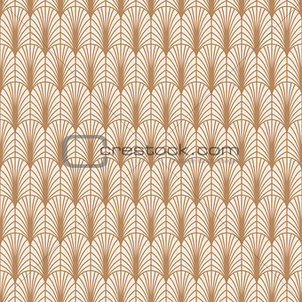 Art deco gold line geometric style pattern.
