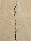Big crack on the concrete