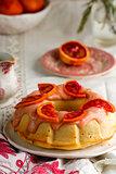 BLOOD ORANGE POUND CAKE WITH AN ORANGE ZEST ICING