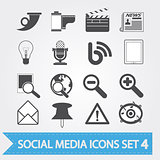 Social media icons set 4