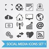 Social media icons set 1