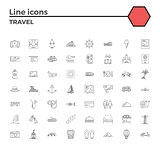 Travel icons set.