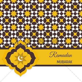 Greeting card, invitation for Muslim community holy month Ramada