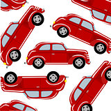 Red car pattern