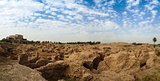 Panorama Babylon and Former Saddam Hussein Palace ruins, Iraq