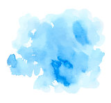 Blue watercolor vector texture