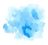 Blue watercolor vector texture
